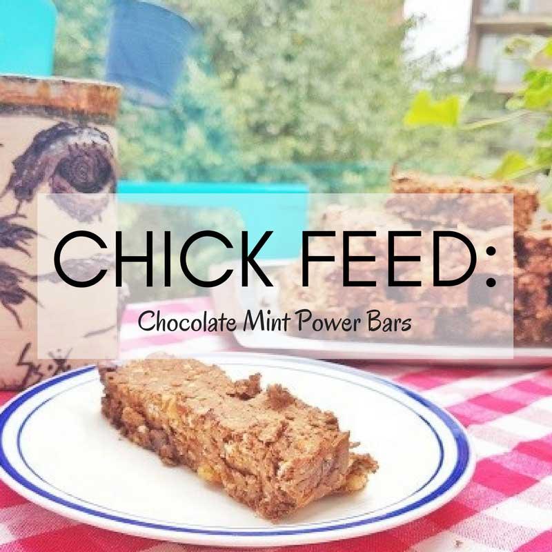 CHICK FEED: CHOCOLATE MINT POWER BARS (VEGAN, HIGH FIBRE RECIPE)
